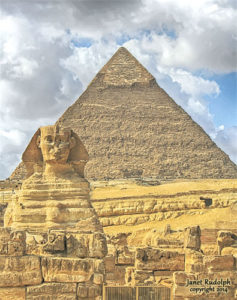 Sphinx and Pyramid in Ancient Egypt